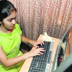 typing her life