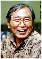 Rektor Universitas Paramadina  Nurcholish Majid, wajah, Jakarta 12 Juli 2000 [TEMPO/ Bernard Chaniago; 30d/348/2000; 2000/07/20].